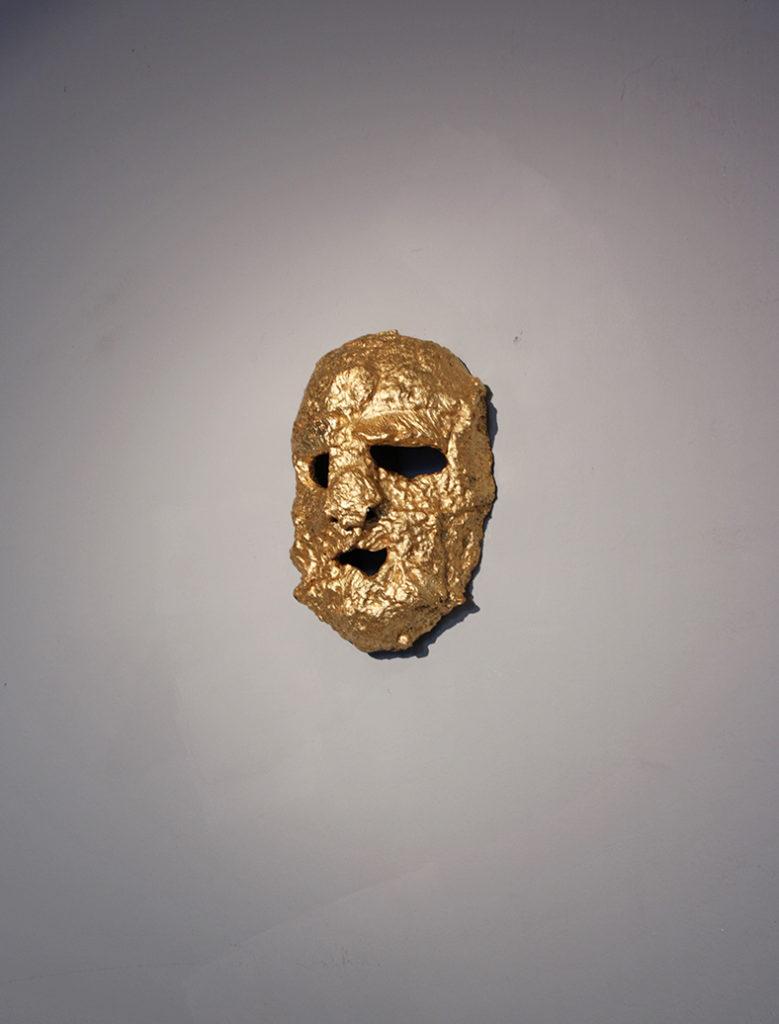 Mask, iron, schlagmetal, 2017