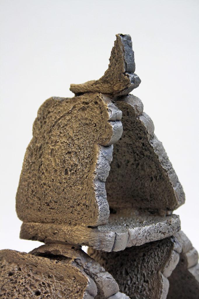 Great pyramid (detail), bronze, 2018