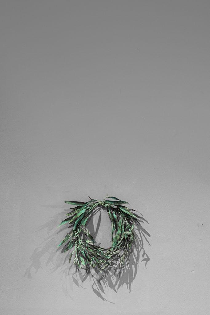 Willow Wreath, copper, bronze, 2017
